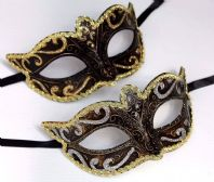 His n Hers Black and Gold Masks